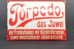 Torpedo Reklameschild