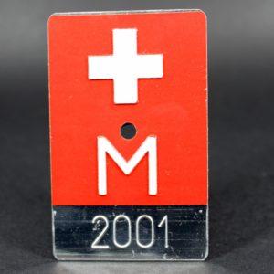 Nummernschild M 2001