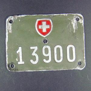Nummernschild grün Militärvelo